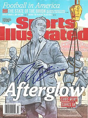 THEO EPSTEIN Signed CHICAGO CUBS Sports Illustrated Magazine w/COA PROOF CHAMPS!
