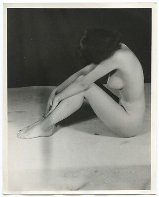 1950s Vintage Nude Photo~Perfect Busty Big Boobs Dark Puffy Nipples Sultry Pinup
