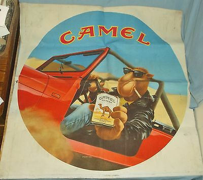 1993 Joe Cool Camel Cigarettes Cloth Advertising Banner Sign Red Jeep 30 x 31