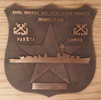 USN Brass Plaque: Naval Inactive Ship Maintenance Facility