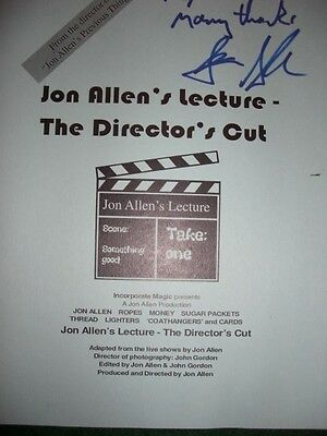 Jon Allen's Lecture - The Director's Cut - Inscribed