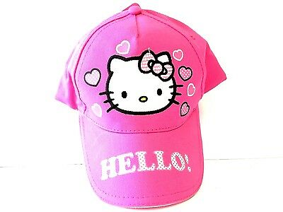 Sanrio Hello Kitty Toddler/Kids Pink Cotton Baseball Cap/Hat w/Velcro Back
