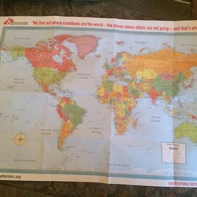 DOCTORS Without BORDERS Rand McNally World Map