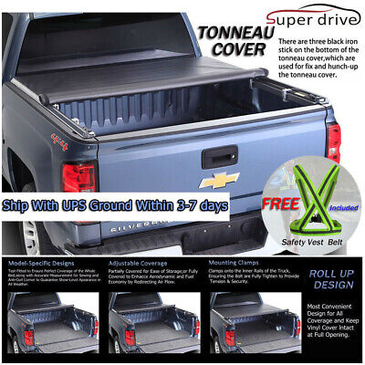 Fits 2009-2017 DODGE RAM 1500/2500/3500 ROLL UP Tonneau Cover 5.7ft Short Bed