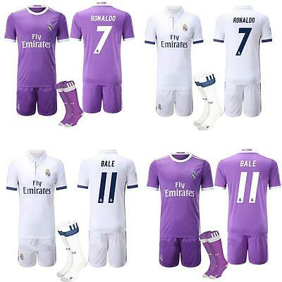 Football Soccer Jersey New Kits With Socks For 2-13 Yrs Kids Boys Youth Clothing