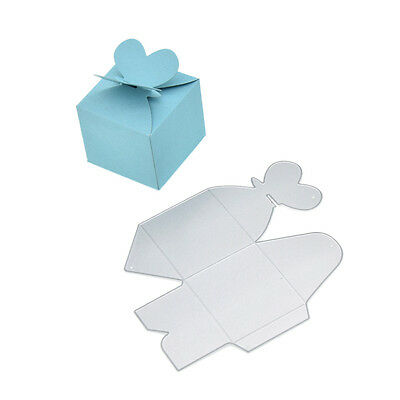 DIY Metal  Heart Candy Box Cutting Dies Gift Holder Making Stencil Crafts 1 pcs
