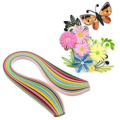180 Stripes Quilling Paper 1cm Width Solid Color Origami Paper DIY Hand Craft