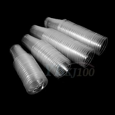 Disposable 100X Clear Plastic Cups Drinking Juices Picnic Wedding Party Catering