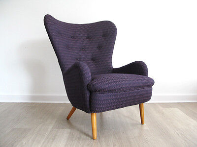1950s DA1 ARMCHAIR LOUNGE CHAIR retro heals vintage 50s FULLY REUPHOLSTERED BUTE