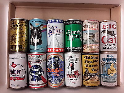 12 Different American Steel Beer Cans ( Lot S)