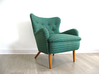 1950s DA2 ARMCHAIR LOUNGE CHAIR retro heals vintage 50s FULLY REUPHOLSTERED BUTE