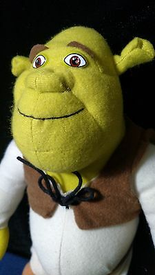 2010 Dreamworks Nanco Shrek 2 Plush Toy 13 Inches with Tush Tags, Pre Owned NICE