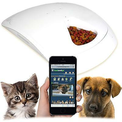 Feed and Go Smart Pet Feeder With Built In Webcam & Wi-Fi. Free USA Shipping.