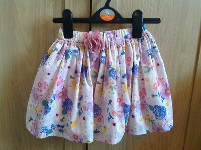 girls pink floral mothercare skirt Size 2-3 years