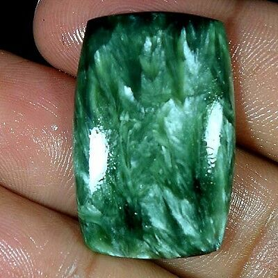 23.75Cts. 100% NATURAL DESIGNER GREEN SERAPHINITE CUSHION CABOCHON TOP GEMSTONES