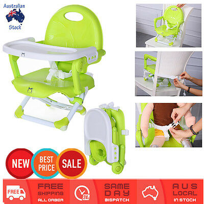 Foldable Baby Toddler Travel Dinning High Chair Feeding Tray Booster Seat