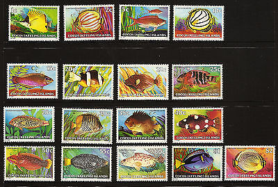 1979-80 *MNH*Fish Found in Waters of Cocos (Keeling) Islands Definitives **SET**