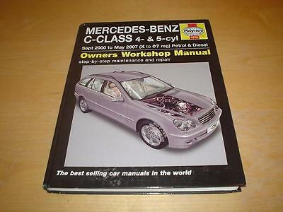Haynes MERCEDES W203 C CLASS 160 180 200 220 230 270 Owners Manual Handbook Book
