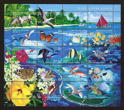 1999 *MNH* Living Mosaic - Cocos (Keeling) Islands **Pictorial SHEETLET**