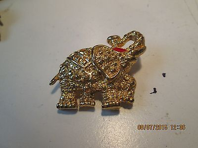 Red Eye Gold Elephant Pin
