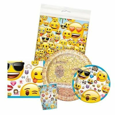 EMOJI Tableware Party Supplies - Cups/Plates/Napkins/Tablecover/Smiley/Birthday