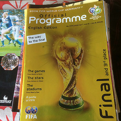 2006 World Cup Final Proramme  English Version  FREE POSTAGE