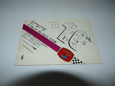 Rallye dell'Elba 1977 Cartolina Card Postcard 10° Rally Elba