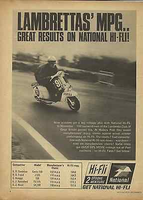 Last One! Orig. Historic 1967 Lambretta Scooter Economy Mpg Test Sales Poster/ad