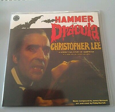 Hammer Horror Ltd Edition Coloured Vinyl Dracula Told By Christopher Lee Vampire