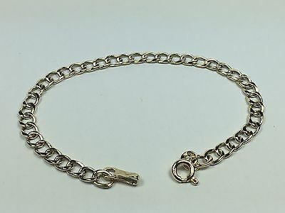 Solid 9ct  Yellow Gold Curb Link Bracelet 7' /17.7 cm