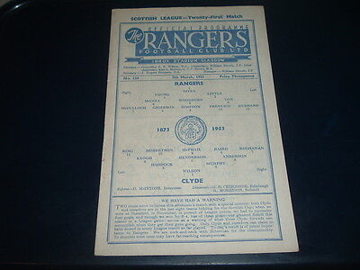 Rangers v Clyde March 1953 No. 124