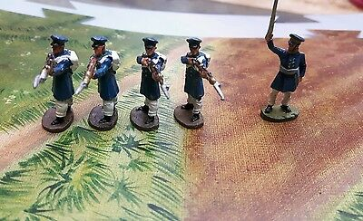 Del prado napoleon at war collection 1.72scale russian officer and 4 rifle men