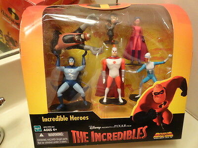THE INCREDIBLES HEROES Figure Set RARE UNDERMINER Edna Frozone Stratogale MS-0