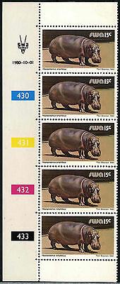 South West Africa 1980-9 SG#359, 15c Wildlife 1980 Printing MNH Strip #D25335