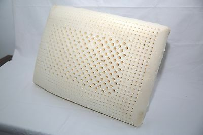 100% natural latex pillow 100% zipered  cotton inner cover  60*40*12.5CM 1.3KG