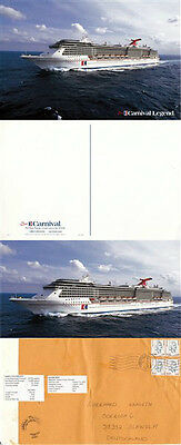 Panama Cruise Ship Ms Carnival Legend 2 Colour Postcards & A Ships Cached Piec