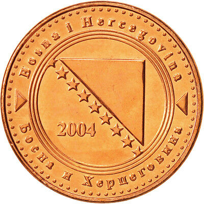 [#504665] BOSNIA-HERZEGOVINA, 10 Feninga, 2004, UNZ+, Copper Plated Steel