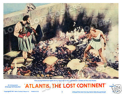 Atlantis The Lost Continent Lobby Scene Card # 3 Poster 1961