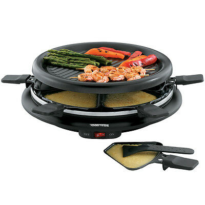 "NEW Toastess Non-Stick 6-Person 13"" Mini Party Grill And Raclette With Spatulas"