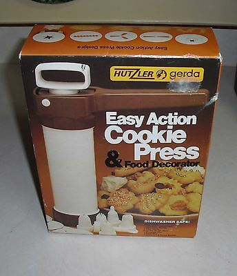 Hutzler Gerda Easy Action Cookie Press and Food Decorator + Booklet West Germany