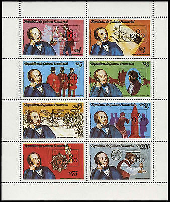 Equatorial Guinea 1980 Sir Rowland Hill, London 1980 MNH Sheet #C28995