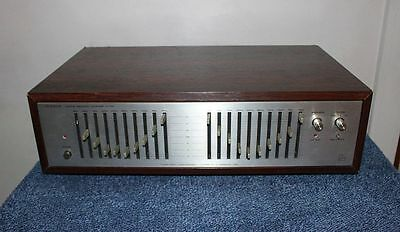 Luxman G-120A Graphic Frequency Equalizer w/ Rosewood Cabinet