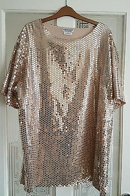 Jaeger vintage sequin top - disco, christmas size 14/16
