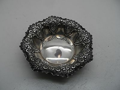 Antique Decorative Silver Pin Dish Sheffield -1895 -25g No Reserve