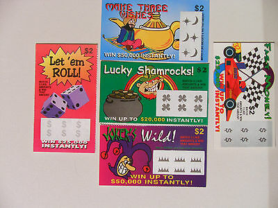 15 FAKE Scratch Off LOTTERY TICKETS GAGS, EVERY TICKET WINS, PRANK
