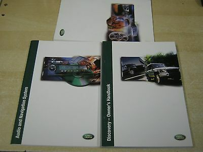 Land Rover Discovery 2002-2005 Handbook Owners Manual Inc New Service Book Oem