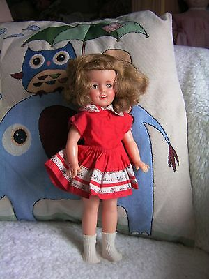 """Vintage Ideal Shirley Temple doll ST 12. 12"""" tall. Original dress"""
