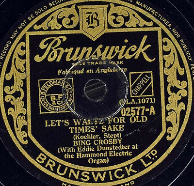 Schellackplatte - Bing Crosby - Let's Waltz For Old Times' Sake / The Moon Of...