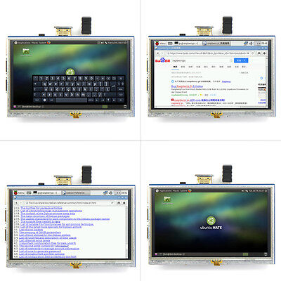 "5"" Inch 800x480 HDMI TFT LCD Touch Screen for Raspberry PI 3/2 Model B/B+/A+/B J"