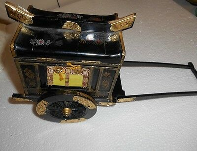 Vintage Japanese Nippon Express  Rickshaw Musical Jewelry / Trinket Box